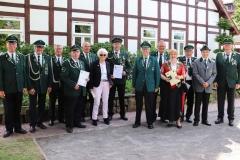 Etliche besodnere Auszeichnungen erhielten aktive Mitglieder im Schützenverein Lotte von 1659. Bild: Ursula Holtgrewe (Noz)